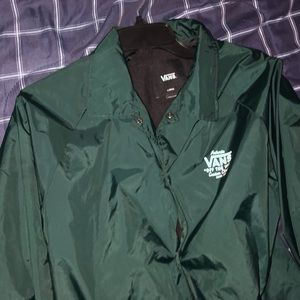 Vans Green Windbreaker Button up